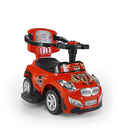 Image of Milly Mally  3-in-1 Happy Ride On Car (Red)