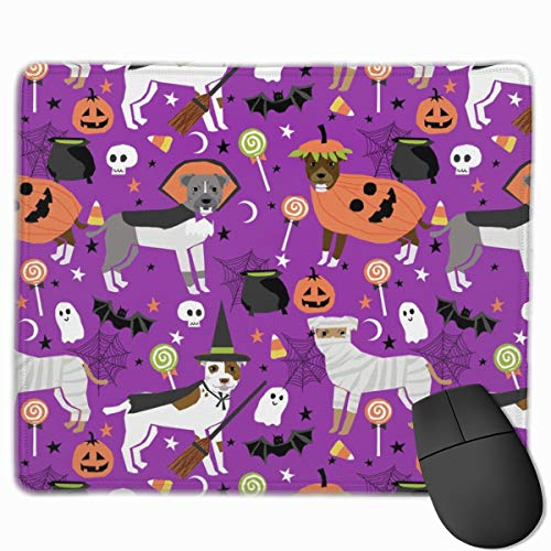 stume Dog - Cute Dogs In Costume Halloween Design Candy Corn, Candy, Funny Pet- Purple Mousepad 18x22 cm ()