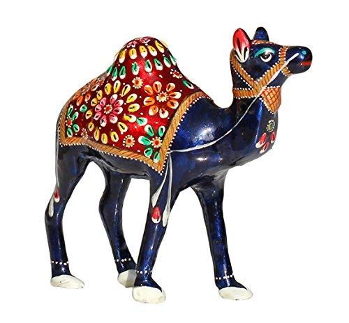 WINTER -Angebote-Woche - SouvNear Kamel Figur Deko, Holz Statuen Figuren Skulptur Dekoriert mit Meenakari Arbeit für Wohnzimmer, Schlafzimmer Deko, Geschenk aus Indian