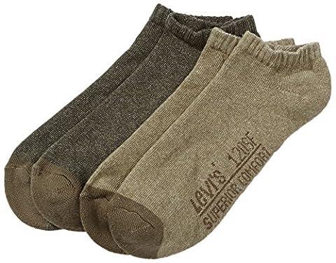 Levi's Men's LEVIS 120SF LOW CUT 2P Calf Socks, Green (burnt Olive 154), 6/8 (Manufacturer size: