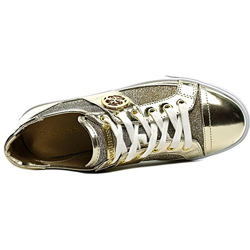 Guess Macby 3 Femmes Synthétique Baskets Gold Multi