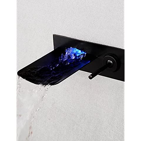 AcRco Montaggio su parete Single Handle Tre fori in Bronzo lucidato Lavandino rubinetto del bagno