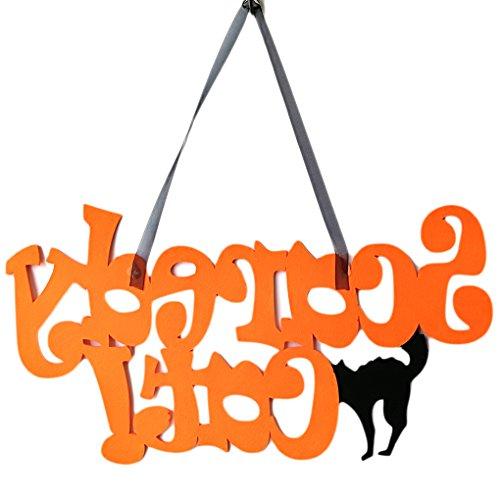 Meisijia Cat Non-Woven-Halloween Hängen Türdekoration Wandschilder für ()