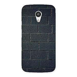 Delighted Black Wall Multicolor Grain Back Case Cover for Moto G 2nd Gen