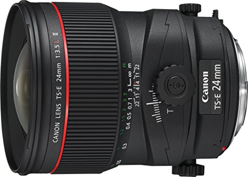 Cheapest Canon TS-E 24mm f/3.5 L II Lens ( Wide 24mm focal length, ± 8.5° Tilt & ±12mm Shift)