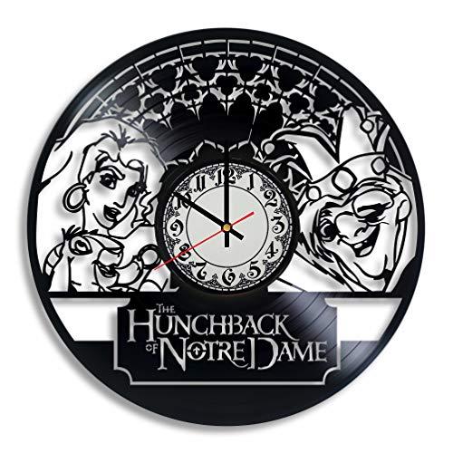 Lepri4ok Wanduhr, Motiv Notre Dame von Notre Dame Esmeralda Disney Art, Notre Dame de Paris