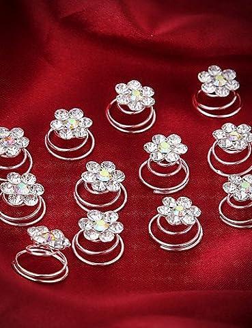 duzishi-fs mariée cristal Spira Tourbillon de fleurs de mariage mariée épingles à cheveux cependant bobines 1pièces