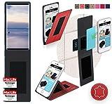 reboon Hülle für Doogee Mix 2 Tasche Cover Case Bumper   Rot Leder   Testsieger