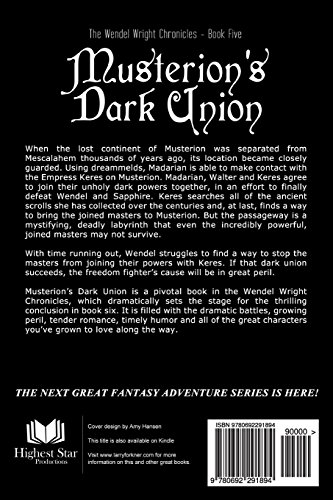 Musterion's Dark Union: The Wendel Wright Chronicles - Book Five: Volume 5