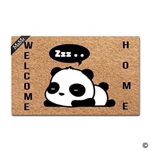 MsMr Fußmatte Eingang Fußmatte Cute Panda Welcome Home Fußmatte Home und Office-Dekorative Fußmatte 76,2x 45,7cm