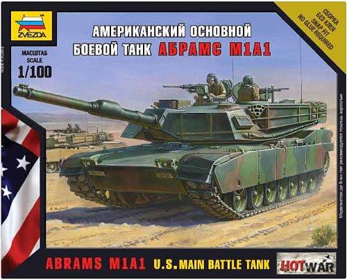 Zvezda 500787405 - 1:100 M1A1 Abrams U.S. Kampfpanzer