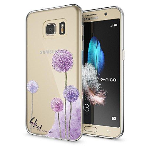 Samsung Galaxy S7 Hülle Handyhülle von NALIA, Slim Silikon Motiv Case Crystal Schutzhülle Dünn Durchsichtig, Etui Handy-Tasche Back-Cover Transparent Bumper für Samsung S7, Designs:Dandelion Pink