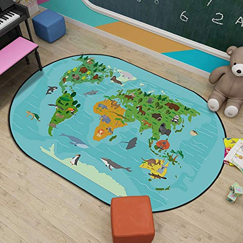 JIFAN Alfombrilla For Gatear For Bebés, Alfombras Educativas For Niños, Alfombras De Aprendizaje For...