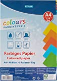 STYLEX 40818 Farbiges Papier, 5 Verschiedenen Intensivfarben, 40 Blatt, 80 g/qm