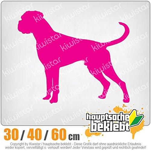 Kiwistar - Deutscher Boxer German Hund Heckscheibenaufkleber Carsticker Decal
