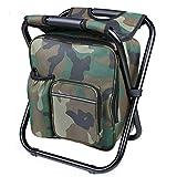 Brinny Tragbarer Camping Stuhl Rucksack Kühltasche Doppelschicht Oxford Sehr Leicht Belastbar bis 150 kg ideal für Wanderer Camper Strand Angeln Fischen
