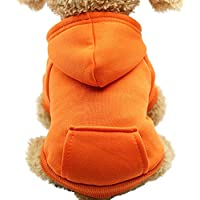 Ropa para Mascotas Gusspower Sudadera con Capucha Color sólido con Bolsillo suéter Perrito Ropa de Invierno Abrigo Espesar