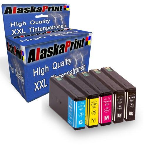 5 XXL Compatibili Cartucce Epson T7011 - T7014 Sostituzione Per Epson WorkForce Pro WP-4015 WP-4025 WP-4025DW WP-4095 WP-4500 WP-4515 WP-4525 WP-4525DNF