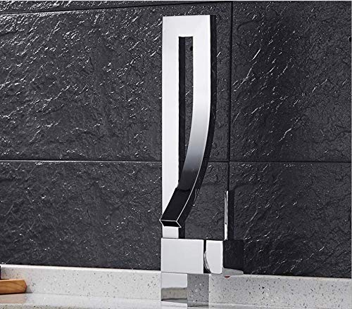 jukunlun Chrom/Pinsel Nickel/Schwarz/Orange Messing Badezimmer Platz Wasserhahn Luxus Waschbecken Mischbatterie Deck Montiert Warmen Und Kalten Mischbatterie Wasserhahn (Wasserhahn Badewanne Nickel Pinsel)