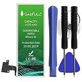 GadFull Batteria compatibile con iPhone 4S | 2019 Data di produzione | Manuale Profi Kit Set di Attrezzi | Batteria di ricambio senza cicli di ricarica | Con tutti gli APN originali