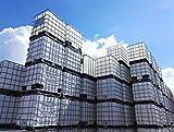 1000 Liter IBC Container Prallschutz Absperrung Schikane mobil und robust