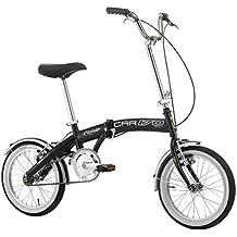 Bicicletta Pieghevole Car Bike in Acciaio 16 Pollici Nero