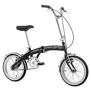 """51fINNQjiwL. SS300 Cicli Cinzia Bicicletta 16"""" Citybike Pieghevole Boat Bike, Senza Cambio, V-Brake Alluminio, Nero Opaco, Unisex – Adulto"""