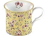 Creative Tops Tasse, Motiv: Katie Alice Ditsy Floral Blumenmuster, feines Porzellan, Gelb