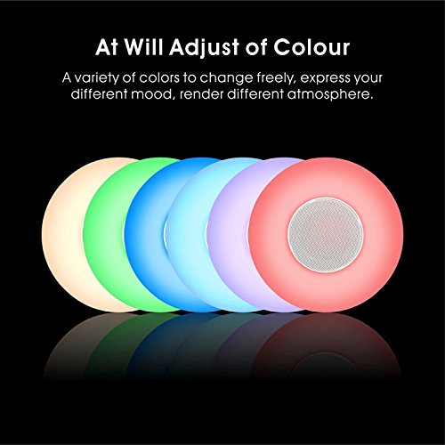 Portable Outdoor Wireless Camping Bluetooth Stereo Speaker mit Smart Touch bunt Lampe dimmbar für Nacht Licht Farbwechsel (Speakerphone Hands-Free, TF Card Slot)