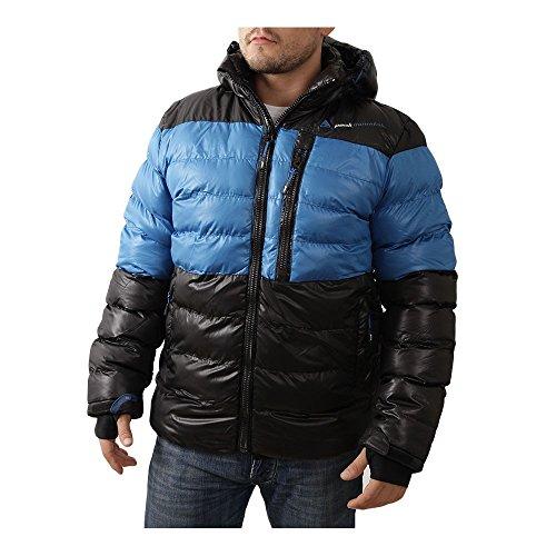 Peak Mountain - Doudoune homme CAPTIN- Noir/bleu - XXL