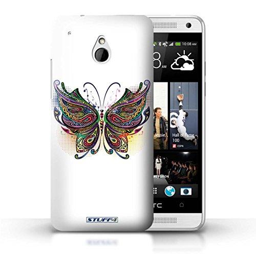 Kobalt® Imprimé Etui / Coque pour HTC One/1 Mini / Chouette conception / Série Animaux décoratifs Papillon
