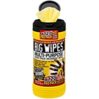 Big Wipes 2412 4 x 4-inch Multi-Purpose Cleaning Wipes (Pack of 120)
