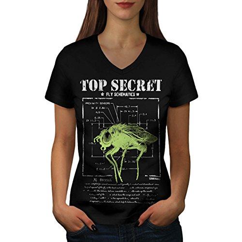 meilleur-secret-mouche-insecte-capteur-femme-nouveau-noir-l-t-shirt-wellcoda