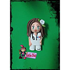 Krankenschwester Brosche handmade 10 cms