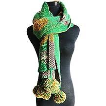 c3acba411b64 Butterme longue écharpe en tricot pour femme, chaude écharpe d hiver, foulard  à