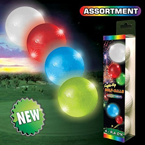 Night Flyer Lighted Golf Balls - 4 Ball Variety Pack by Night Flyer