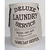 "Bolsa de la colada ""Laundry Service Deluxe"" crema altura 55 cm"