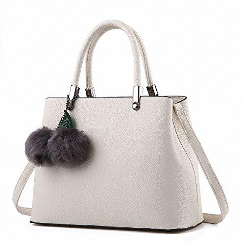 damen handtasche Pu einzigen frauen mode tasche Cremeweiß