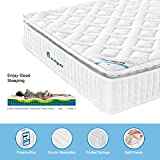 HomyLink Double Mattress with Pillow Top 4FT6 Pocket Sprung Mattresses 3D Breathable Knitting
