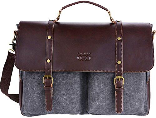 Coofit Ledertasche Männer Arbeitstasche Leder Herren Umhängetasche Messenger Bag Vintage Aktentasche Laptoptasche Businesstasche
