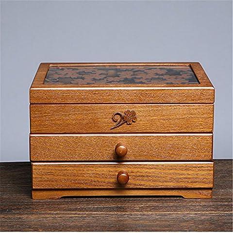 In legno gioielli retrò monili di disegno