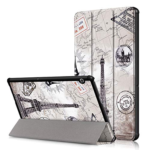 38 - TenYll Huawei MediaPad T5 10 Funda, Chasis portátil [Ultra-Delgado] [Ultra-Ligero] Smart Tablet PC Holder para Huawei MediaPad T5 10 Tableta
