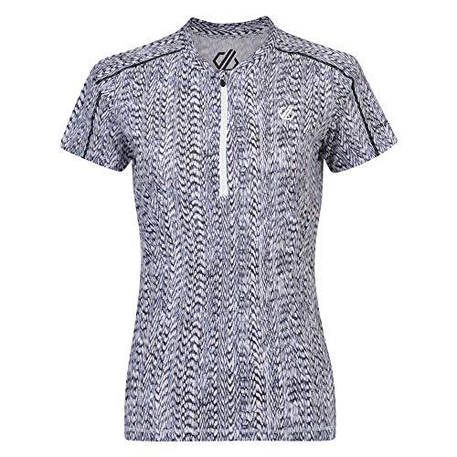 Dare 2b Women's Theory Lightweight Half Zip Active Jersey, Black/White, Size 12