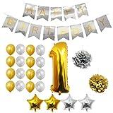 Globos Cumpleaños Happy Birthday #1, Suministros y Decoración por Belle ...
