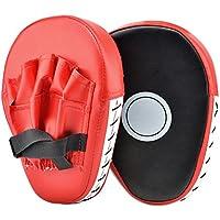 PULNDA 1 Paire de Pattes d'Ours Boxe en Cuir Bouclier Courbe pour l'Entraînement de Sport de Combat,ntraînement de Boxe Tækwondo Muay Thai Sanda