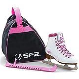 Sfr Skates SFR008, Set per Pattini da Ghiaccio Unisex Bambini, Bianco, 33
