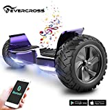 EVERCROSS Board Challenger Basic Monopattino Elettrico Autobilanciato, Balance Scooter Skateboard, con Due Ruote 8.5 in, Bluetooth, App e LED,Inclusa Batteria e Borsa,15Km/H (Placcatura Violetto)