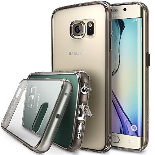 Galaxy S6 Edge Hülle, Ringke Fusion kristallklarer PC TPU Dämpfer (Fall geschützt/ Schock Absorbtions-Technologie) für das Samsung Galaxy S6 Edge - Rauchschwarz