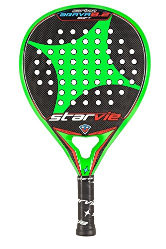 StarVie Brava 8.2 Soft Pala de pádel, Unisex Adulto, Verde, 360 G