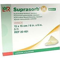 SUPRASORB H Hydrokoll.Verb.standard 15x15 cm 5 St Verband preisvergleich bei billige-tabletten.eu